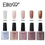 Elite99 UV Nagellack Nail Gel Polish Farbgel Nagelgel Regenbogen Effekt Gelish(5x Stueck)
