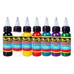 Solong Tattoo® 7 Grundfarben Tattoofarbe Set Pigment Kit Profi 1oz (30ml) für Tattoo Maschine Set TI301-30-7