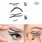 Schablonen für Katze Eyeliner und Smokey Augen Make-up Werkzeug,LDream® 2Pcs/Satz nette Smokey Katze-Eyeliner-Schönheits-Karten-Werkzeuge 2 Art-Eyeliner-Schablonen-Augenbraue-Schablonen