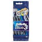 Gillette Blue3 Einwegrasierer Herren Fußball Edition, 1er Pack (1 x 8 Stück)