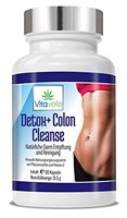 Detox Colon Cleanse | Darmreinigung und Darm-Entgiftung | Premium Apotheken-Qualität - 1 Monats Kur | Hochdosierte natürliche Kapseln | Eine gesunde Darmflora | Zur Begleitung und Unterstützung einer Diät | Darmreiniger | Darmsanierung | Vitamine | Nährstoffe | Flohsamenschalen | Darmbakterien | Darmentgiftung | 60 Premium Kapseln