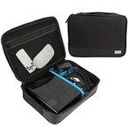 Khanka Universaltasche Zubehör tragen Beutel-Kasten Aufbewahrungstasche für USB-Kabel,Speicherkarte,Akku WD/Samsung Festplatte und elektronische Kleingeräte - Große