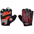 2-Fitness Damen Herren Fahrradhandschuhe, Radsport Handschuhe mit Geleinlage und voller Dämpfung Rot XL
