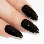 Bling Art Stilett Falsche Nägel Acryl Schwarz Dark Beauty Mittel Tipps UK