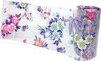 15 cm Transferfolie Blumen mint, hellblau, rosa, lila auf transparent. (C3) NEW. Nagelfolie