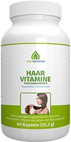 Green Nutrition - Haar Vitamine - Hochdosiert - Vitamin A - Vitamin C - Vitamin B3, B5, B6 - Biotin - Eisen - Selen