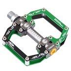 In-Mold Aluminium CNC Lager Fahrradpedal für Rennrad /Mountainbike MTB, Schwarz Grün Gemischt