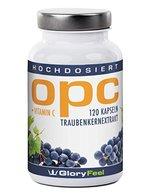 OPC Traubenkernextrakt Kapseln - 120 hochdosierte, vegane OPC Kapseln reines OPC + Vitamin C - 100% natürliches Antioxidans, 2 Monatsvorrat - Premiumqualität Deutscher Herstellung