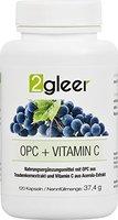 2gleer OPC Traubenkernextrakt Kapseln - vegan hochdosiert plus Vitamin C aus Acerola, 120 Kapseln