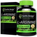 L-Arginin - 500mg Arginin - L Arginin Aminosäuren - 90 Kapseln (3 Monate Vorrat) by Earths Design