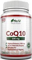 Coenzym Q10 120, CoQ10 100 mg Kapseln, Nu U Nutrition
