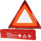 KFZ Kombi-Verbandtasche Verbandkasten Erste-Hilfe-Set nach DIN 13164 mit Warndreieck