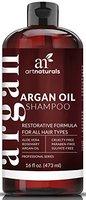 Art Naturals Arganöl Shampoo 473 ml, Täglicher, Natürlicher Feuchtigkeitsspender | Gibt Volumen | Sulfat-freies Shampoo für Männer & Frauen sowie Jugendliche | Ideal für jeden Haartyp: besonders trockenes, geschädigtes, coloriertes Haar | Anti Aging Haarpflege