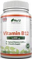 Vitamin B12 Methylcobalamin 1000ug 180 Tablletten (6 Monatsversorgung) von Nu U Nutrition
