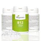 Vitamin B12 1000 µg Methylcobalamin | Testsieger 2015 | Komplex Mit B6, B9 (Folsäure) Hochdosiert | Aufnahme Über Mundschleimhaut Möglich | Vegan | für Immunsystem ▪ Energie ▪ Leistung, Vegavero 3 Monatsvorrat
