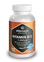 Vitamin B12 hochdosiert Methylcobalamin 1000 µg 180 Tabletten vegan 6 Monatsvorrat Qualitätsprodukt-Made-in-Germany ohne Magnesiumstearat, jetzt zum Aktionspreis und 30 Tage kostenlose Rücknahme! 1 er Pack (1 x 45 g)