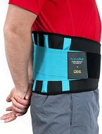 Rückenbandage | Rückenstütze für Herren und Damen | Rückenstützgürtel, Stützgürtel Rücken, Rückengurt, Bauch Bandage, Fitnessgürtel gegen Rückenschmerzen | ActiveBak von Clever Yellow - Größe L