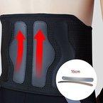 Rückenbandage/ Fitnessgürtel mit Zuggurt verstellbarer und Rückengurt mit Stützfunktion Rückenschmerzentlastung-Orthese medizinischer Qualität für chronische Schmerzen -Größe L (Taille 70 bis 86 cm)