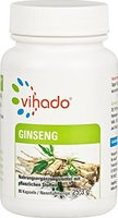 Vihado Ginseng Extrakt Kapseln hochdosiert - Rotes Panax Ginseng Pulver aus der Wurzel + Pantothensäure für normale geistige Leistung, 90 Kapseln, 1er Pack (1 x 25,3 g)