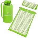 Akupressur-Set »Jimuta« / Tasche + Matte + Kissen / Akupressur- und Massagematte zur effektiven Lockerung und Lösung von Verspannungen / grün