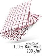WoldoClean Geschirrtücher 100% Baumwolle 50x 70 rot / 8er Set ca. 200g/qm