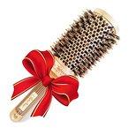 Beste Rundbürste zum Haare trocknen / föhnen, mit natürlichen Wildschweinborsten für Föhne (4.3 cm) - Haarstylingprodukt in Profi-Salonqualität für gesunde, seidig glänzende & gleichmäßige Föhnfrisuren -