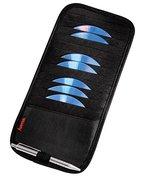 Hama Sonnenblende Tasche (Auto CD Aufbewahrung inkl. Stifthalter, geeignet für (12 CDs)) schwarz