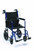 Drive Medical Expedition EXP19BL Rollstuhl / Reiserollstuhl, Aluminium, leicht, Blau