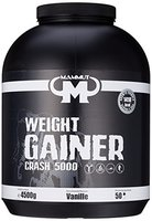 Mammut Weight Gainer Crash 5000 (Kohlenhydrate Masseaufbau Kreatin) Vanille , 1er Pack (1 x 4.5kg)