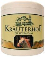"""Pferdebalsam kühlt und belebt, wertvolle Kräuterextrakte aus Rosskastanie, Arnika, Rosmarin und Minzöl """"Kräuterhof"""" 500ml Dose mit Alufolie versiegelt"""