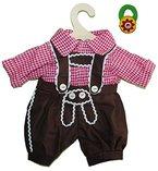 2 tlg. Set Puppenkleidung Trachtenhose + Hemd Gr. 35 - 45 cm Kniebundhose - incl. Haargummi für die Puppenmutti - für die Puppe - Kleidung Bekleidung Puppenbekleidung für Jungen
