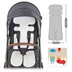 Atmungsaktive Universal Sommer-Sitzeinlage / Sitzauflage für Kinderwagen & Buggy   verringert Schwitzen Ihres Kindes - kühlt durch Luftzirkulation   PREMIUM QUALITÄT   Klima-Einlage auch für Babyschalen & Kindersitze geeignet