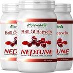 Krillöl Kapseln 270, 100% reines NEPTUNE Premium Krill Öl von MoriVeda - Omega 3,6,9 und Astaxanthin - Markenqualität (3x90)