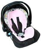 ByBoom® - Baby Sitzauflage / Sitzeinlage Moby mit Sommer- und Winterseite, Universal für Babyschale, Autokindersitz, z.B. für Maxi-Cosi, Römer, für Kinderwagen o. Buggy, Farbe:Rosa