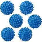 2 - 10 Stück Trocknerball Trocknerbälle Wäsche Ball Trockner Wäsche Weich Kugel Bälle (6, Stück Blau)