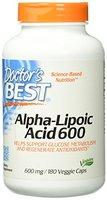 Doctor's Best, Best Alpha-Lipoic Acid (Alpha-Liponsäure), 600mg, 180 Veg. Kapseln