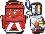 Erste Hilfe Notfallrucksack Sport, Sportvereine, Event & Freizeit - Nylonmaterial mit weißen Reflexstreifen