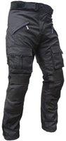 Sportliche Motorrad Hose Motorradhose Schwarz mit Oberschenkeltaschen Gr. M