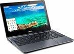 Acer Chromebook C740-C3DY 29,5 cm (11,6 Zoll) Netbook (Intel Celeron 3205U, 2 GB RAM, 32 GB SSD, Intel HD Graphics, Chrome) granit grau