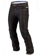 Juicy Trendz Herren Motorradrüstung Biker Motorrad Denim Hose Jeans Schwarz W32 L30