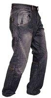 Newfacelook Schwarze Motorradhose Rüstungen motorrad Hose Jeans mit Aramid verstärkt Schutzauskleidung I112 New Black W34 L32