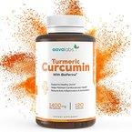 Kurkuma Kapseln [ 1400 mg ] von Aava Labs - 95% Curcumin Extrakt - Höchste Wirksamkeit mit patentiertem BioPerin - Starkes natürliches Antioxidans, Anti-Aging & Entzündungshemmer - 100% Vegan - Hergestellt in der EU - 120 pflanzliche Kapseln.