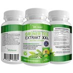Grüner Tee Extrakt - Green Tea Hochdosiert - Tagesdosierung 3400mg - 360 Kapseln - 90 Tage Kur - 40% Polyphenole - 10% EGCG - Zur Diät Ergänzung & Gewichtskontrolle - Green Tea - Vit4ever Premium Nahrungsergänzungsmittel