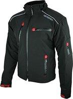 Heyberry Soft Shell Motorradjacke Textil Schwarz Gr. 3XL