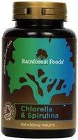 Rainforest Foods Chlorella- Und Spirulina-Tabletten 300 X 500Mg, 1er Pack (1 x 150 g) - Bio
