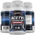 L-Carnitin Extra Stark - 250 Tabletten - 2000mg Tagesdosierung - 100% Acetyl L-Carnitine - 62 Tage Kur - Stärkste L-Carnitine Form - Diät & Gewichtskontrolle - Premium Qualität