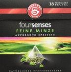 Teekanne foursenses Feine Minze Pyramidenbeutel, 5er Pack (5 x 19,8 g)
