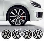 4 x 55 mm Durchmesser VW Volkswagen Rad Mitte Kappen Aufkleber Self Adhesive Emblem Decals Billig