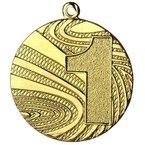 """10 Stück Medaille Gold """"1"""" Stahl 40mm x 2 mm (MMC6040)"""