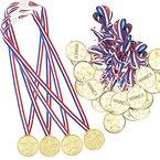 Josure 24 Stück Kinder Siegermedaillen Golden Medaillen für Kinder Preise